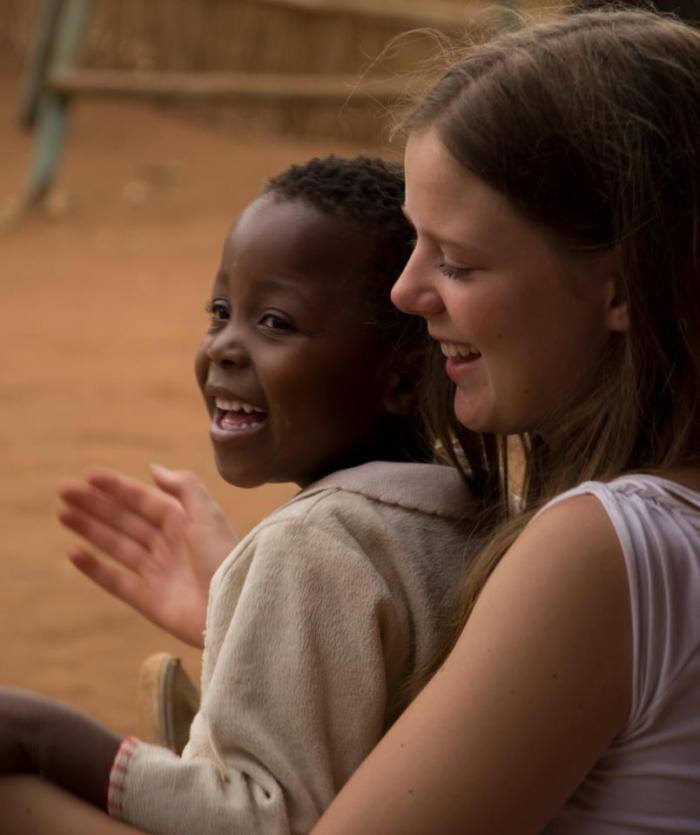 Anne as a volunteer in Malawi